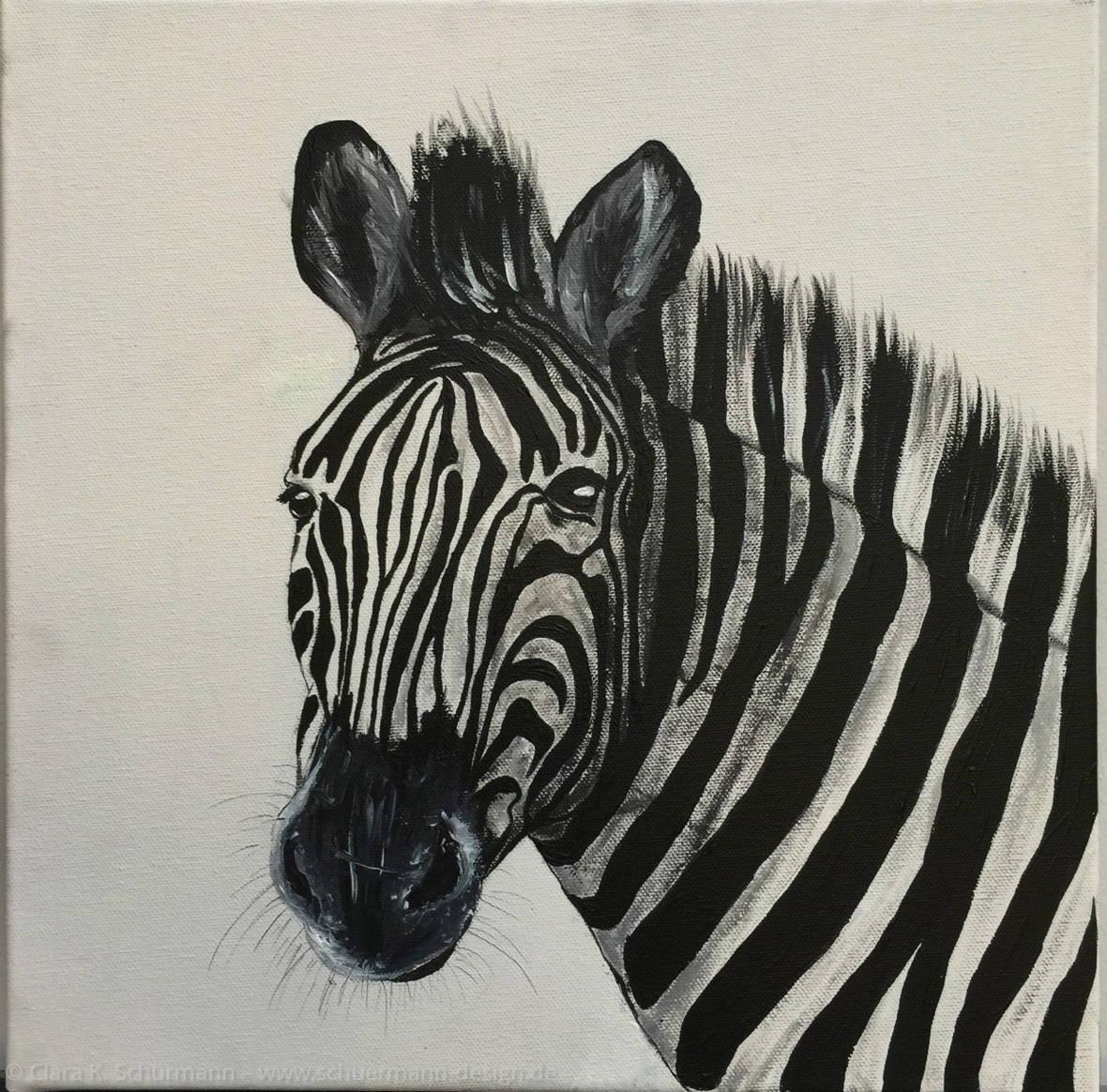 Zebra Acryl Clara K. Schürmann