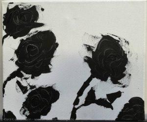Blumen, Acryl Spachtel auf Leinwand